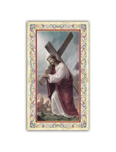 Santino Gesù che porta la...