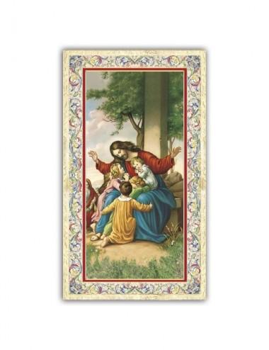 Santino Gesù con i pargoli...