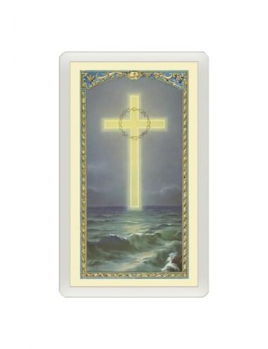 Santino Plastificato croce...