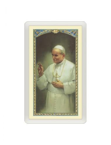 Santino Plastificato Papa...