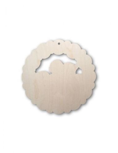 Ghirlanda in legno sagomato...