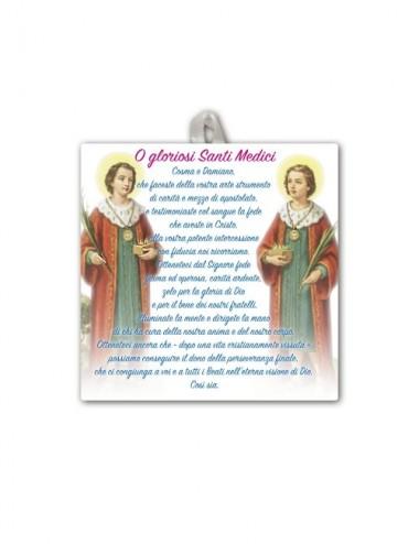 Piastrella dei Santi Medici...