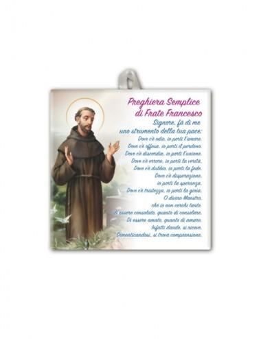Piastrella di San Francesco...