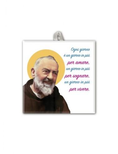 Piastrella di Padre Pio 10...