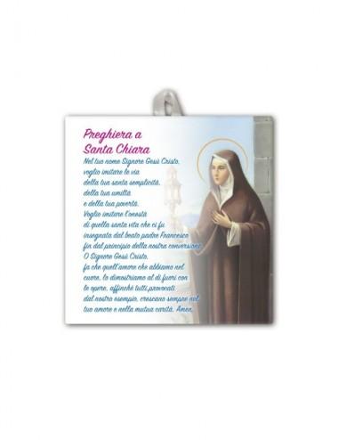 Piastrella di Santa Chiara...