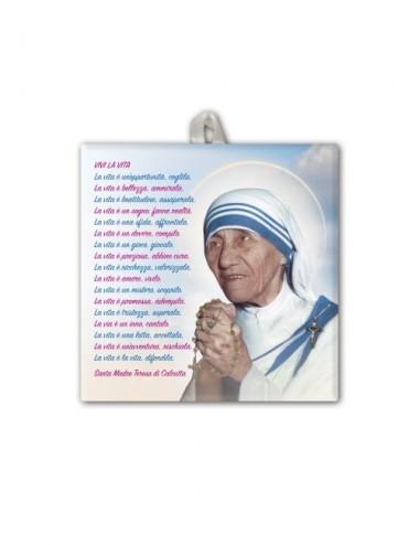 Piastrella di Madre Teresa...