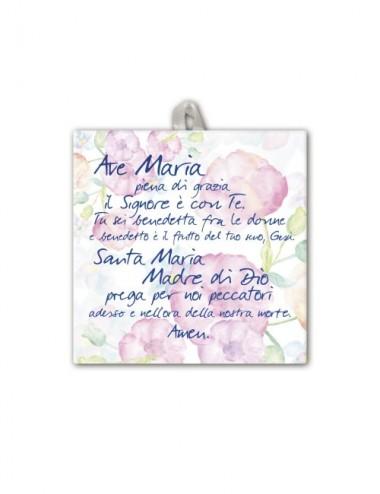 Piastrella con Ave Maria 10...