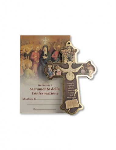 Croce di Cresima in legno...