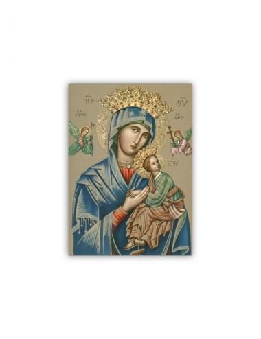 Mini poster con la Madonna...