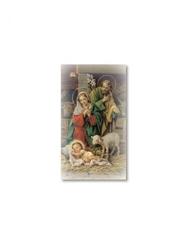Santino Natività con preghiera