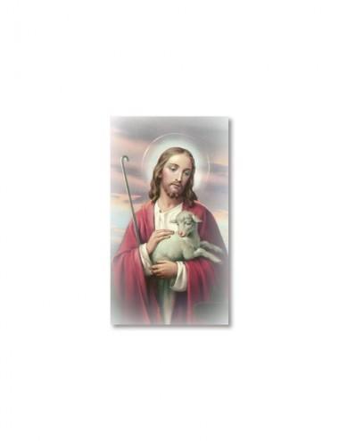 Santino Gesù che accarezza...